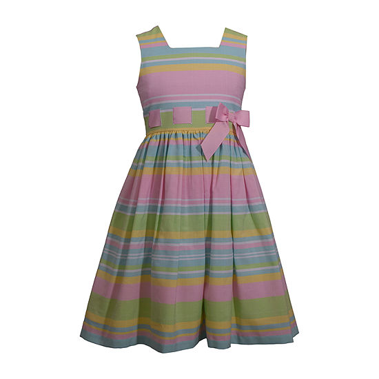 Bonnie Jean Girls Sleeveless Striped A-Line Dress