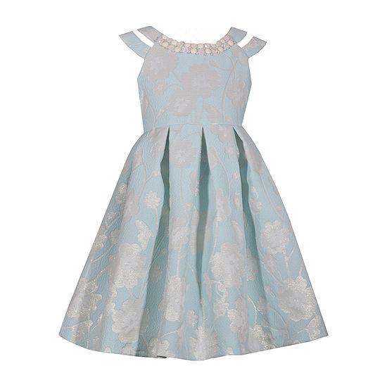 Bonnie Jean Short Sleeve Cold Shoulder Sleeve Party Dress - Preschool Girls