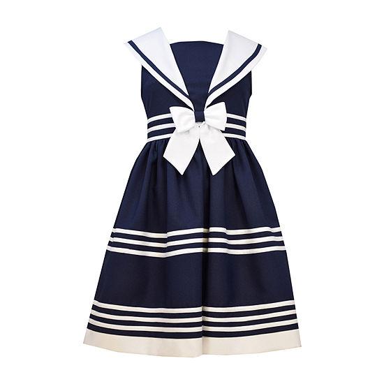 Bonnie Jean® Sailor Dress - Girls 7-16 and Plus