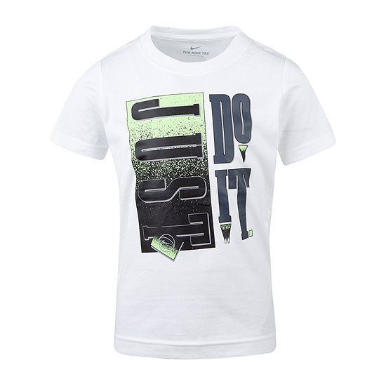 Nike Crew Neck Short Sleeve Graphic T-Shirt-Preschool Boys
