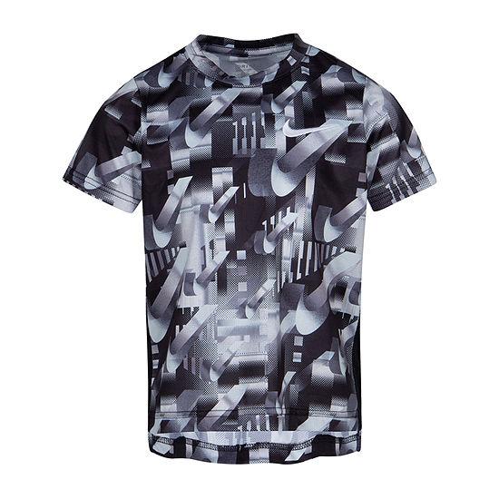 Nike Boys Round Neck Short Sleeve Dri Fit T Shirt Preschool