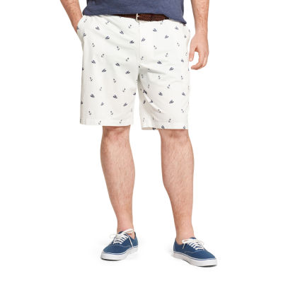 IZOD Ff Saltwater Stretch Printed Anchor And Lobster Short Mens Mid Rise Stretch Pull-On Short-Big and Tall