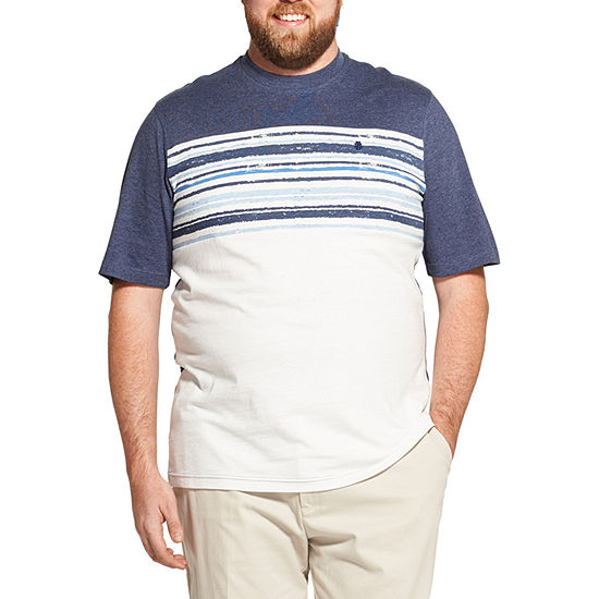 IZOD Graphic Mens Crew Neck Short Sleeve T-Shirt-Big and Tall