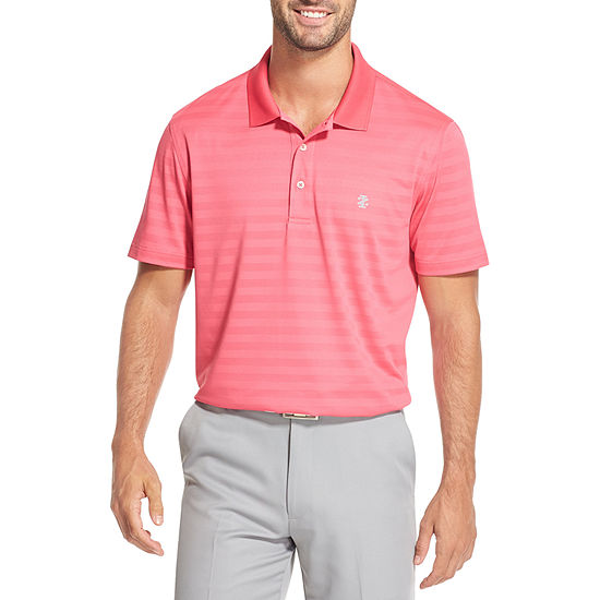 IZOD Big and Tall Clubhouse Solid Polo Mens Short Sleeve Button-Front Shirt