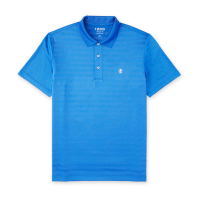 IZOD Clubhouse Solid Polo Mens Short Sleeve Button-Front Shirt Big and Tall