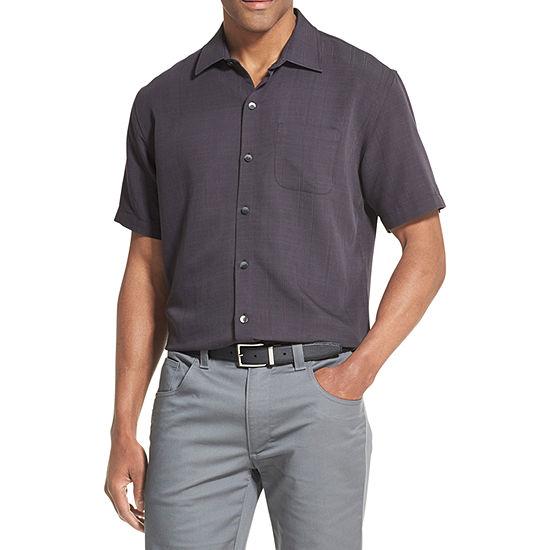Van Heusen Mens Short Sleeve Button-Front Shirt Big and Tall
