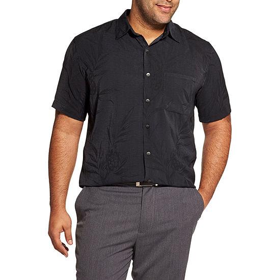 Van Heusen Big and Tall Mens Short Sleeve Button-Front Shirt