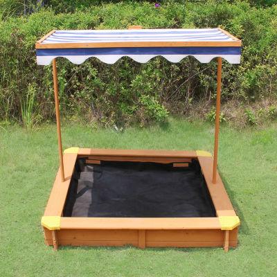 Turtleplay Sandbox With Adjustable Canopy