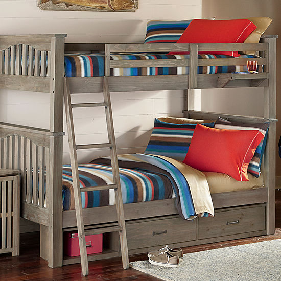 Highlands Harper Full Over Full Bunk With Storage And Hanging Nightstand