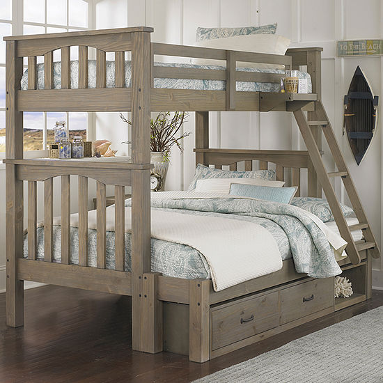 Highlands Harper Twin over Full Bunk with Storage