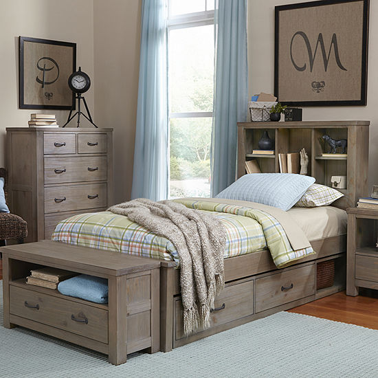 Highlands Bookcase Bed With Storage