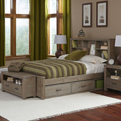 Highlands Bookcase Bed with 2 Storage Units