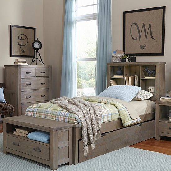 Highlands Bookcase Bed with Trundle