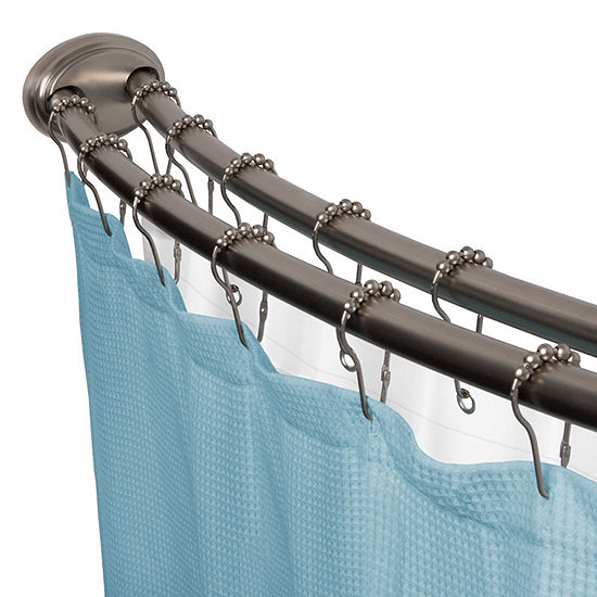 Maytex Double-Curved Smart Shower Curtain Rod