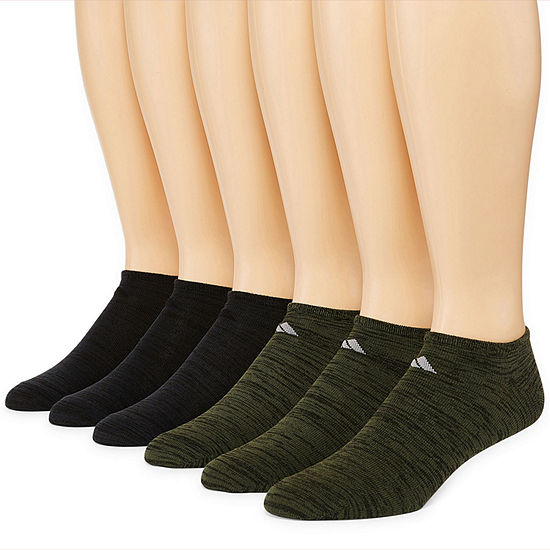 adidas 6 Pair Superlite No Show Socks-Extended Size