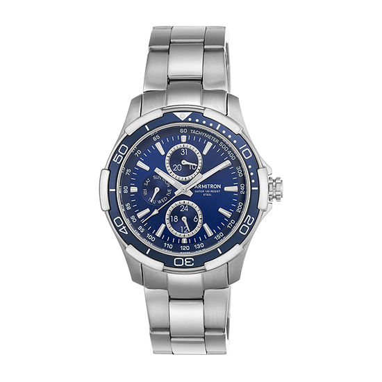 Armitron All Sport Mens Multi-Function Silver Tone Stainless Steel Strap Watch-20/4677blsv