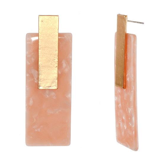 Bijoux Bar Resin Rectangular Drop Earrings