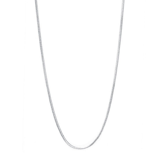 Silver Reflections Silver Reflections Pure Silver Over Brass 16 Inch Chain Necklace