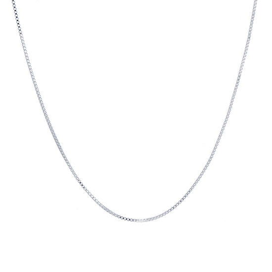 Silver Reflections Silver Reflections Pure Silver Over Brass 18 Inch Box Chain Necklace