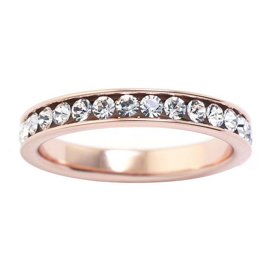 Sparkle Allure Crystal 24K Rose Gold Over Brass