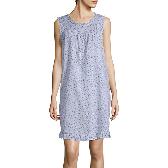 Adonna Ruffle Chemise Womens Nightgown Sleeveless Scoop Neck