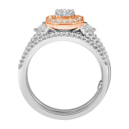 Womens 1/2 CT. T.W. Genuine Diamond 10K Two Tone Gold Bridal Set