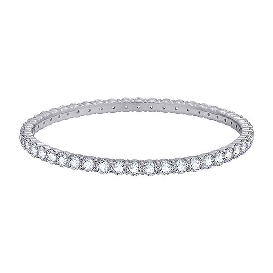 DiamonArt® White Cubic Zirconia Sterling Silver Bangle Bracelet