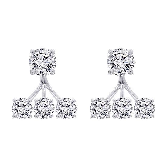 DiamonArt® 6 CT. T.W. White Cubic Zirconia Sterling Silver Earring Jackets