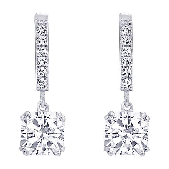 DiamonArt® 4 CT. T.W. White Cubic Zirconia Sterling Silver Drop Earrings