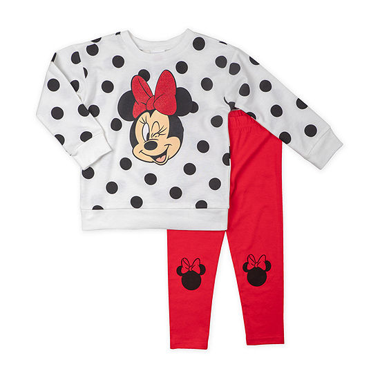 Disney-Toddler Girls 2-pc. Minnie Mouse Legging Set