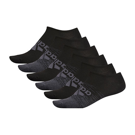 adidas 6 Pair No Show Socks-Mens
