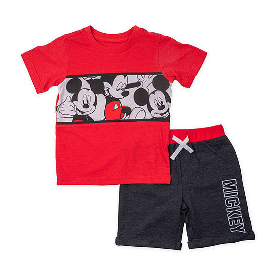 Disney Toddler Boys 2-pc. Mickey Mouse Short Set
