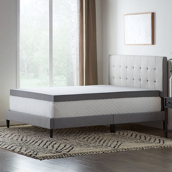 "Dream Collection by Lucid 4"" StayFresh Rayon from Bamboo Memory Foam Mattress Topper"