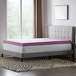 "Dream Collection by Lucid 4"" Lavender Infused Memory Foam Mattress Topper"