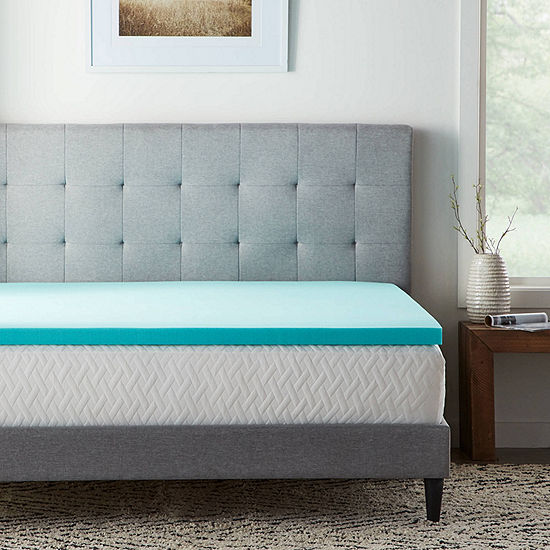 """Dream Collection by Lucid 2"""" SureCool Gel Memory Foam Mattress Topper"""
