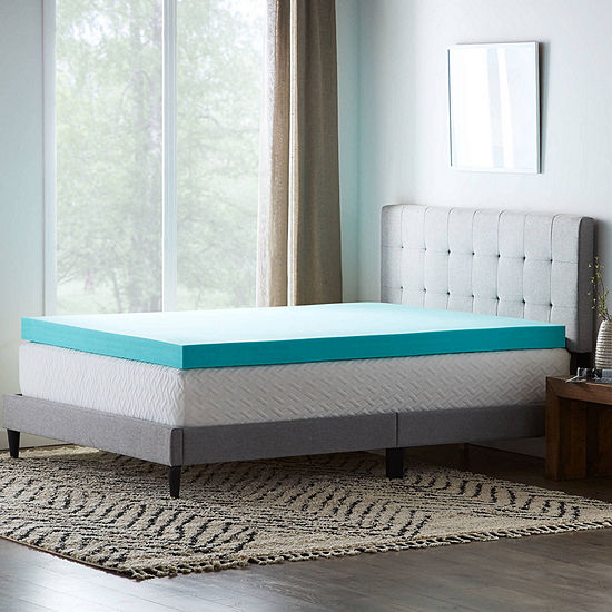 """Dream Collection by Lucid 4"""" SureCool Gel Memory Foam Mattress Topper"""