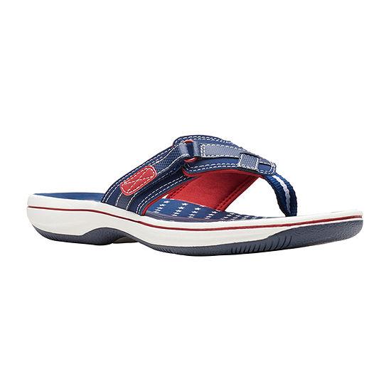 Clarks Womens Breeze Sea Flip-Flops