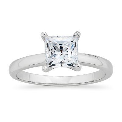 DiamonArt® Womens 1 1/4 CT. T.W. White Cubic Zirconia Sterling Silver Round Engagement Ring
