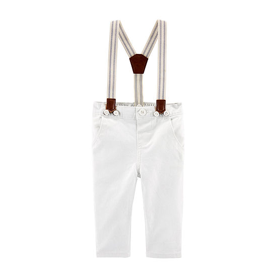 Oshkosh Suspenders Baby Boys 2-pc. Mid Rise Straight Pull-On Pants