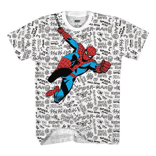 Little Kid / Big Kid Boys Crew Neck Spiderman Short Sleeve Graphic T-Shirt