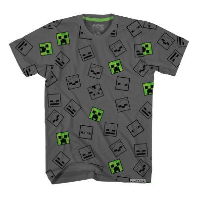 Little & Big Boys Crew Neck Minecraft Short Sleeve Graphic T-Shirt