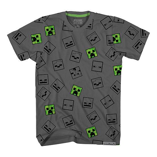 Boys Crew Neck Short Sleeve Minecraft Graphic T-Shirt - Preschool / Big Kid