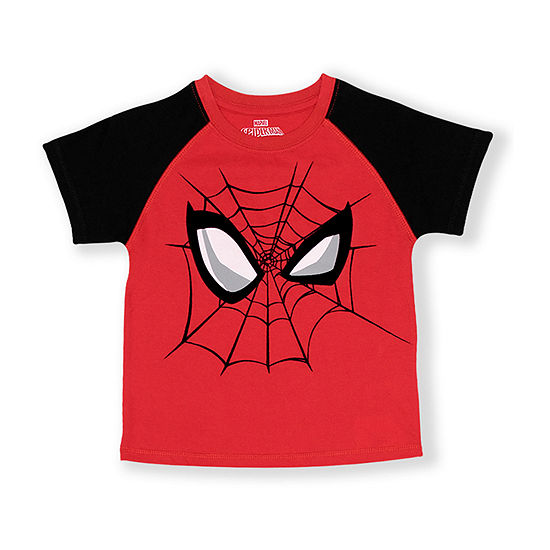 Marvel-Toddler Boys Round Neck Spiderman Short Sleeve Graphic T-Shirt