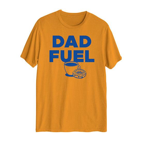 Dad Fuel Mens Crew Neck Short Sleeve Graphic T-Shirt