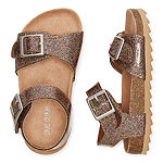 Okie Dokie Lil Nora Girls Ankle Strap Footbed Sandals