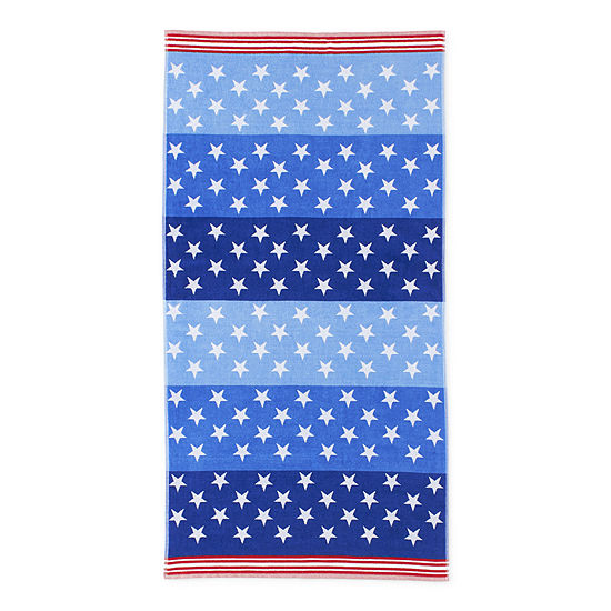 Outdoor Oasis Reversible Stars And Stripes Beach Towel