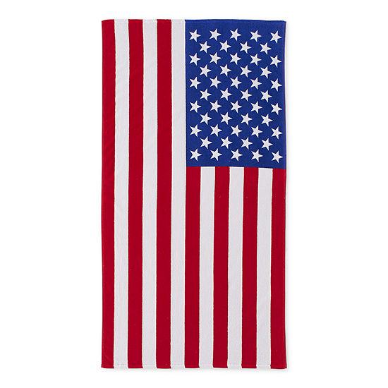Outdoor Oasis American Flag Beach Towel