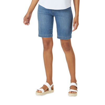 Lee Uniforms Womens Petite Sculpting Slim Fit Pull on Bermuda Short