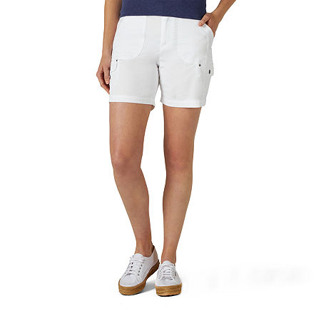 "Lee Womens Mid Rise 6"" Cargo Short, 14 , White"