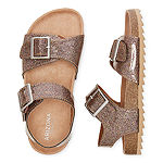 Arizona Nora Girls Ankle Strap Footbed Sandals